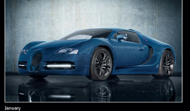 Mansory Teases Latest Tuned Bugatti Veyron in Annual Calender