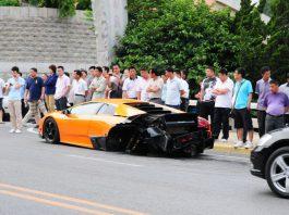 Lamborghini Murcielago with SV Bodykit Wrecked in China