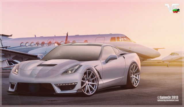 Render: 2014 Chevrolet Corvette Stingray ZR1