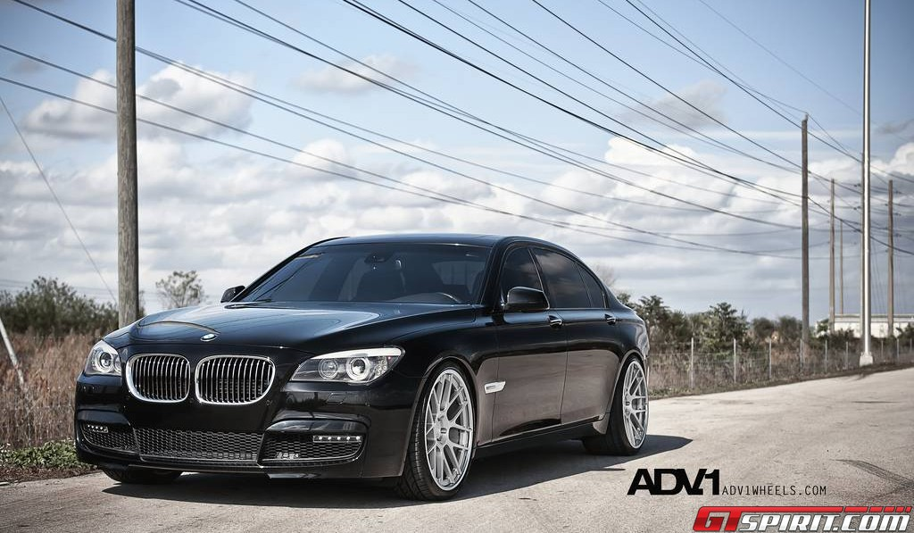 Black BMW 760Li on ADV 1 WheelsBlack Bmw