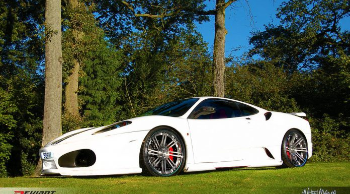 White Ferrari F430 on Deviant DV8.2 Wheels