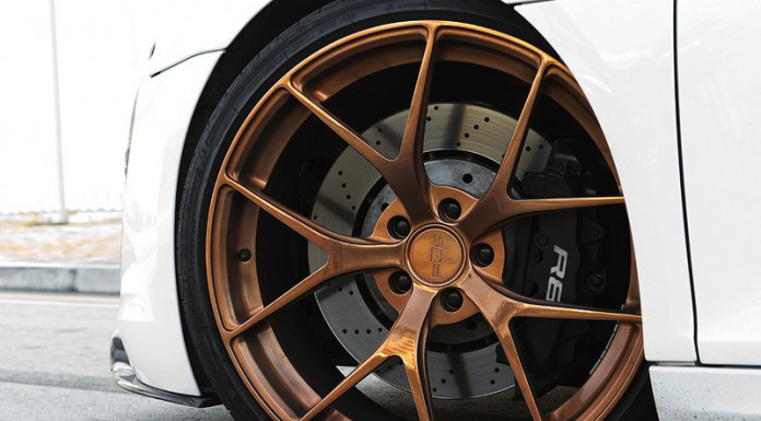Audi R8 V10 on Bronze PUR 4OUR Wheels