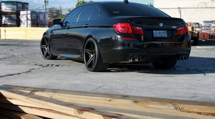 """Black 2013 BMW F10 M5 on 21"""" on ADV.1 Wheels"""