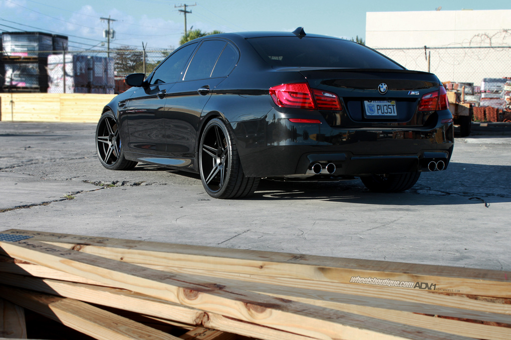 Black Bmw F10m M5 On 21 Inch Adv 1 Wheels Gtspirit