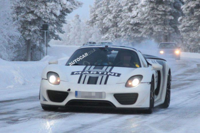 Spyshots: Porsche 918 Spyder Captured Winter Testing