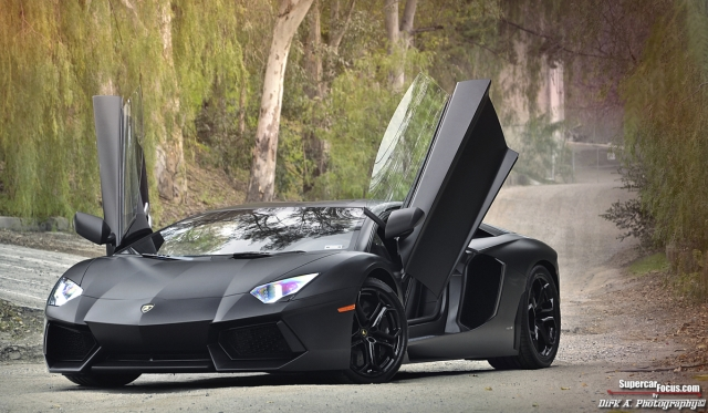 For Sale: Matte Black Lamborghini Aventador LP700-4 - GTspirit