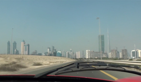 Video: Ride in a Ferrari Enzo in Dubai