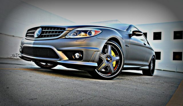 Matte Dark Gray Mercedes-Benz CL63 AMG by Eva
