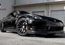 Black Nissan GT-R with by Superior Automotive Design