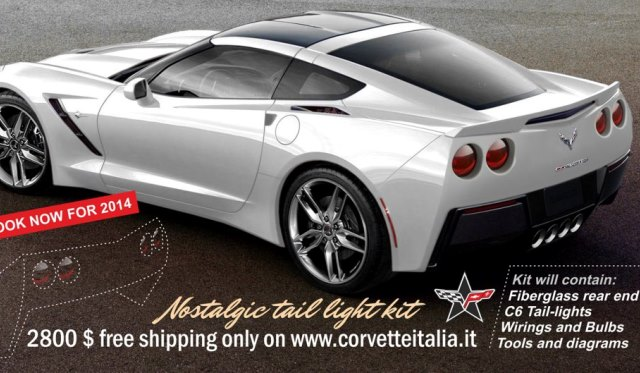 Nostalgic Tail Kit Gives Corvette C7 a C6 Rear End Shape