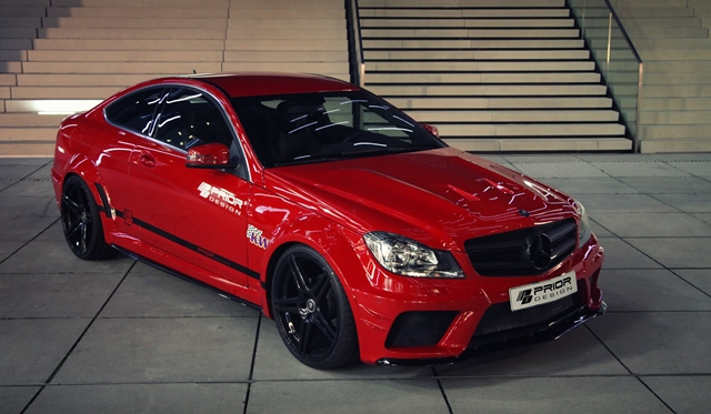 Official: Mercedes C-Class Coupe Black Edition Widebody by Prior Design