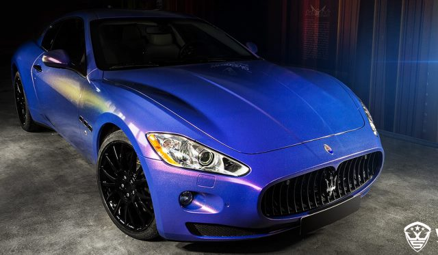 Polar Blue Maserati GranTurismo by WrapStyle