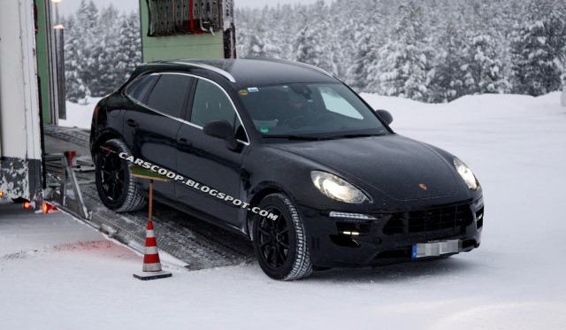 Upcoming Porsche Macan Spotted in Sweden Getting off a Truck