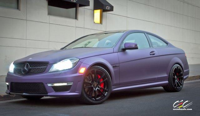 Purple Haze Mercedes-Benz C63 AMG with C882 CEC Wheels
