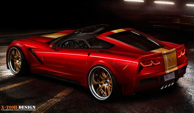Render 2014 Corvette Stingray Convertible