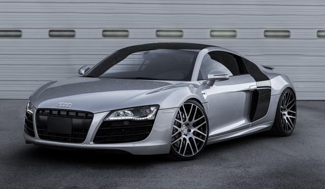 "Audi R8 V10 on Modulare 20"" Forged B14 Wheels"