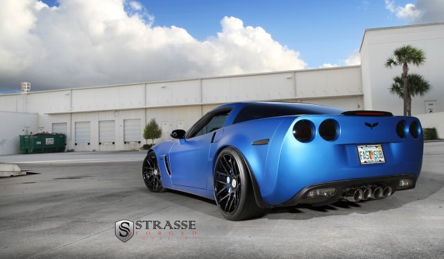 Strasse Forged Wheels Matte Blue Z06
