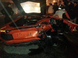 Toyota Prius Crashes into Lamborghini Aventador
