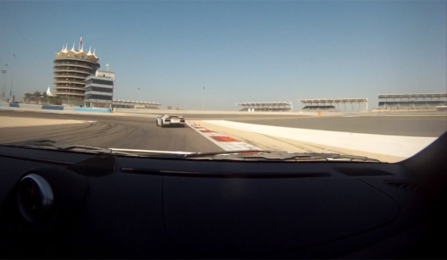 Video: Porsche 911 GT2 Chasing Aventador on Bahrain International Circuit