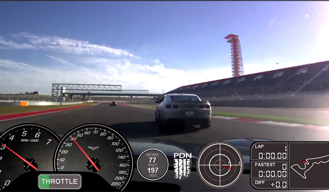 Video: Chevrolet Corvette C6 Z06 Chasing Camaro ZL1 on Circuit of the Americas