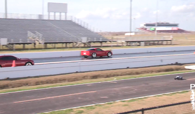 Video: Traxxas R/C car vs Real Cars