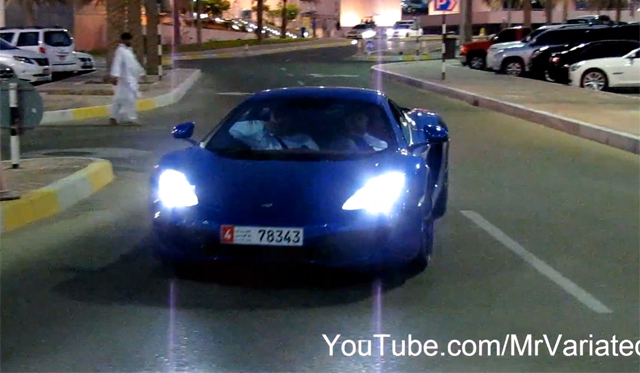 Video: McLaren MP4-12C Accelerating in Dubai