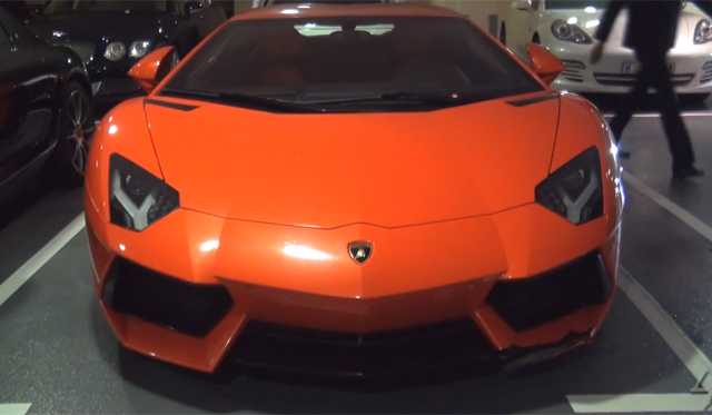 Video: Damaged Lamborghini Aventador at Dubai Mall