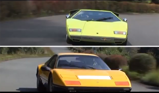 Video: Classic Contest Between Countach LP400 and Ferrari 512 BB