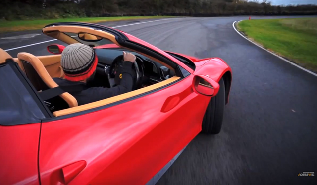 Video: Chris Harris Drives Ferrari 458 Spyder on Track