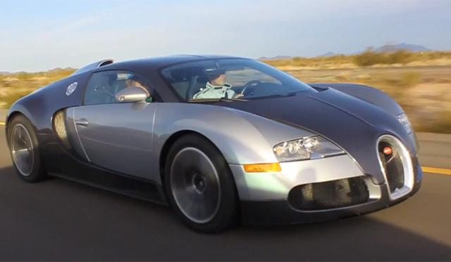 Video: Bugatti Veyron Makes 233mph Pass