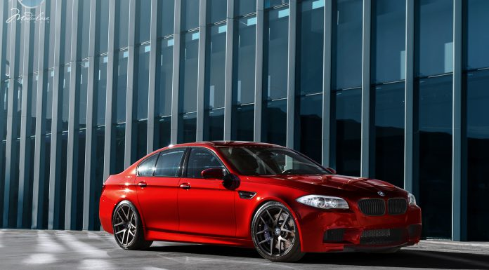 "2013 BMW F10 M5 on Modulare 20"" B18 Wheels"