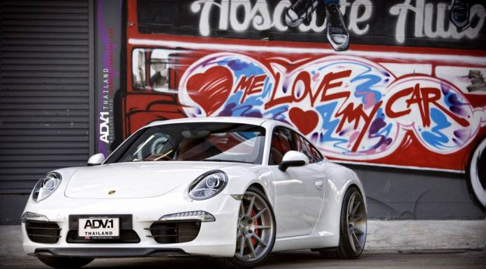 White Porsche 991 911 Rolling on ADV.1 Wheels