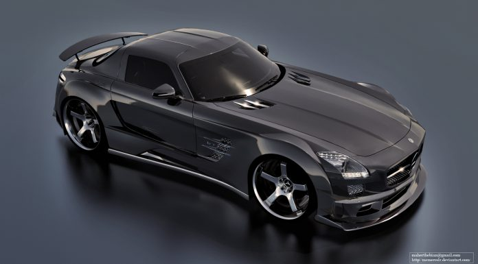 Mercedes-Benz SLS AMG Bodykit Rendering by Maher Thebian