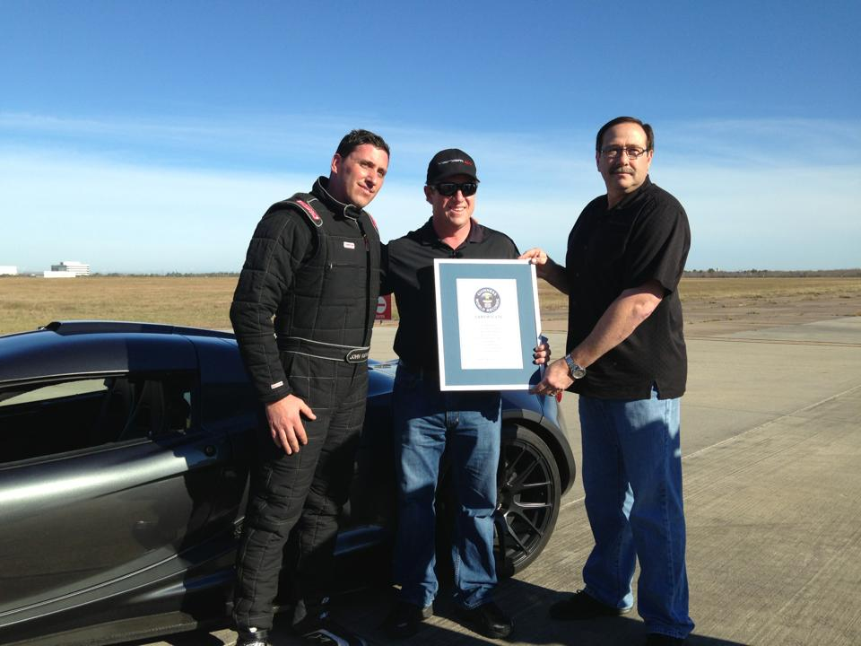 Hennessey Venom GT Claims 0-300km/h World Record