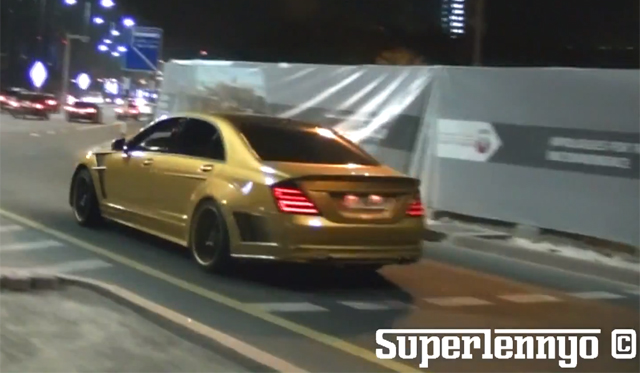 Video: Golden ASMA Mercedes-Benz S63 AMG in Abu Dhabi