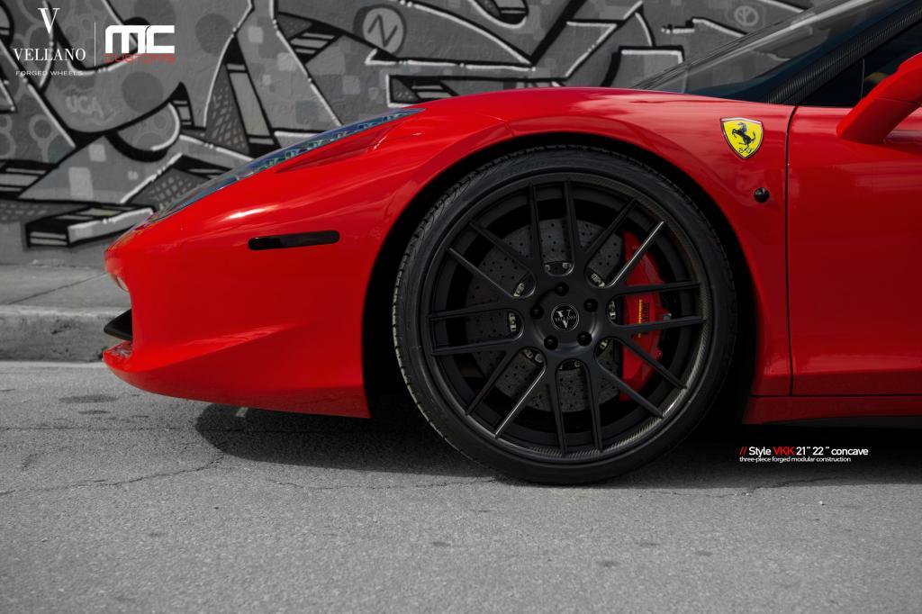 Ferrari 458 Italia on Vellano VKK Concave Wheels