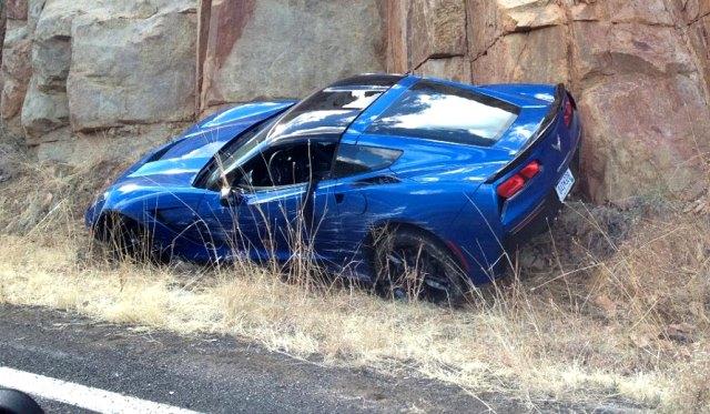 2014 Corvette Stingray Crashed