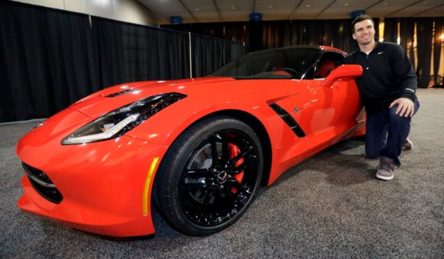 2014 Corvette Stingray given to Joe Flacco