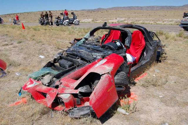 Wrecked Ferrari Enzo