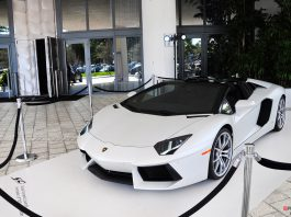 Gallery: White Lamborghini Aventador Roadster in Miami