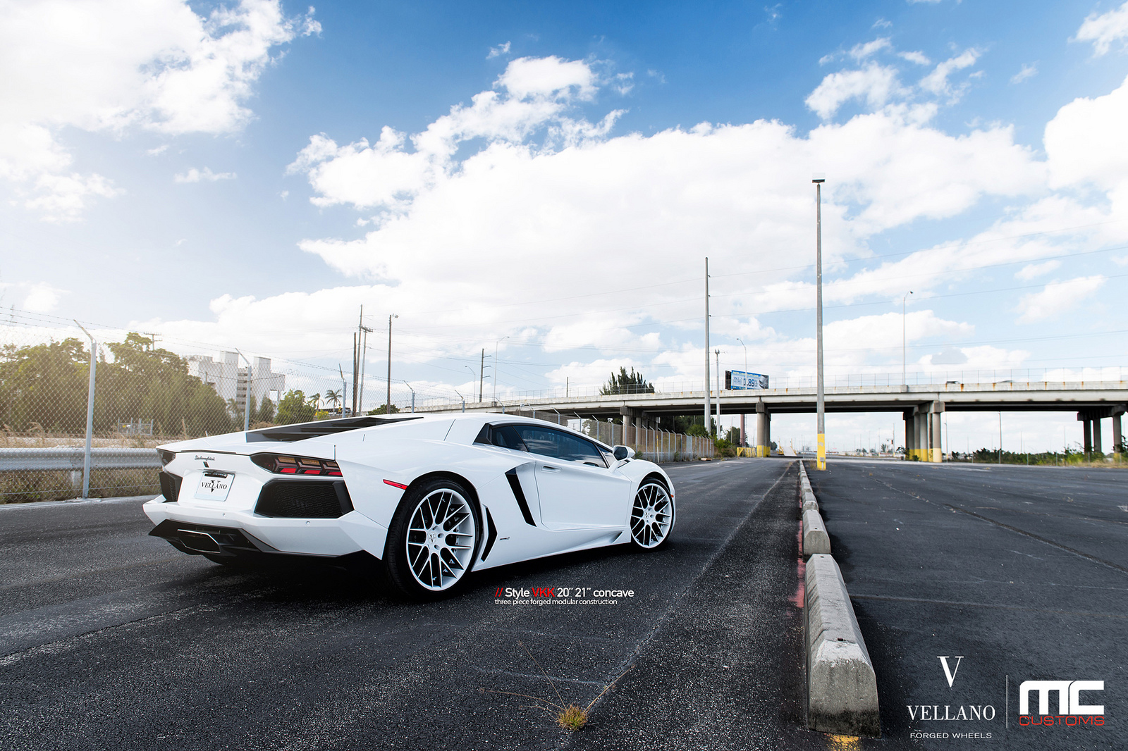 white on white lamborghini aventador with vellano vkk wheels - Lamborghini Aventador White