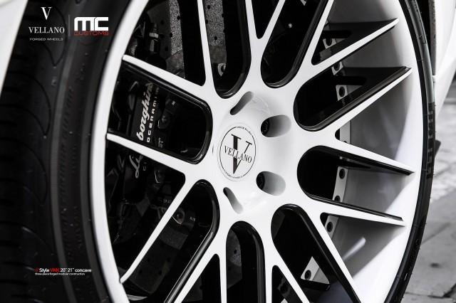 White-on-White Lamborghini Aventador With Vellano VKK Wheels