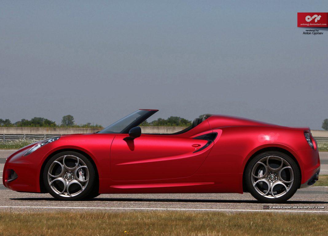 Render: Upcoming Alfa Romeo 4C Spyder by Anton Gjorsev