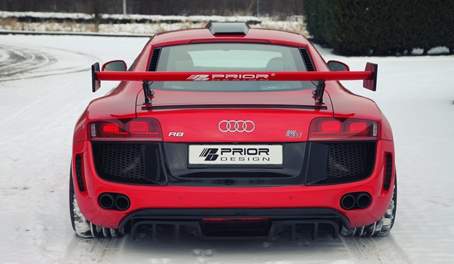 Gallery: Prior-Design AUDI R8 PD GT650 in the Snow