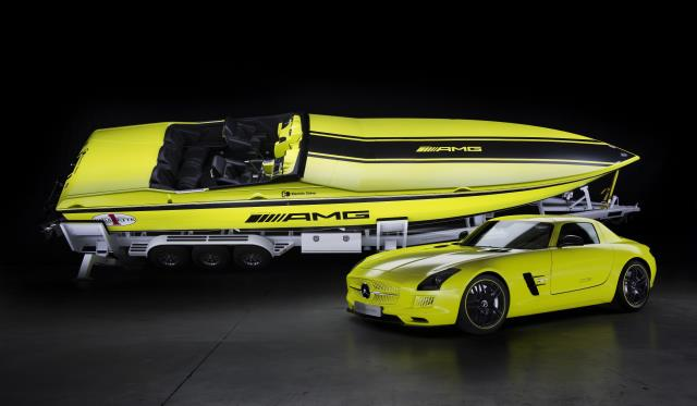 Mercedes-Benz SLS AMG Electric Drive Technology Makes Worlds Most Powerful Boat