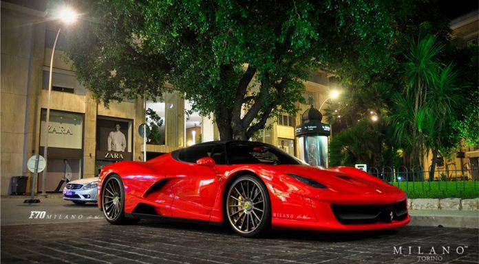 Giallo Ferrari F70 Milano Torino on the Streets