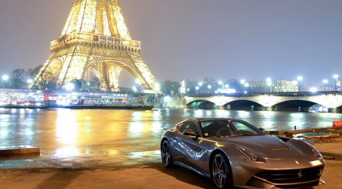 Ferrari F12 Berlinetta at the Eifel Tower