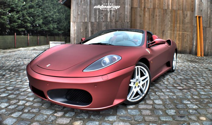 Anodized Red Satin Ferrari F430 Spider by Elite Wrap