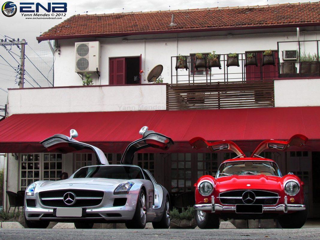 Mercedes-Benz 300SL and SLS AMG