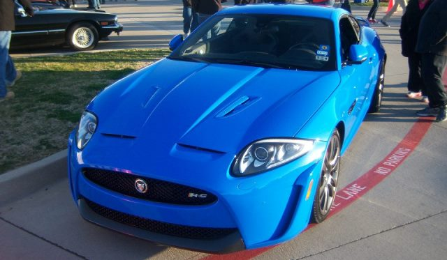 Jaguar XKR-S Coupe in French Racing Blue